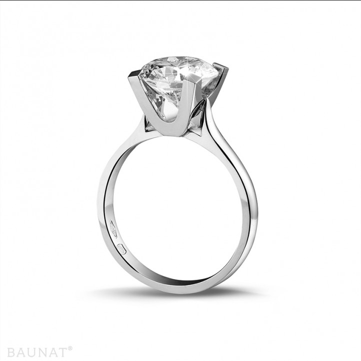 3.00 carats bague diamant solitaire en platine