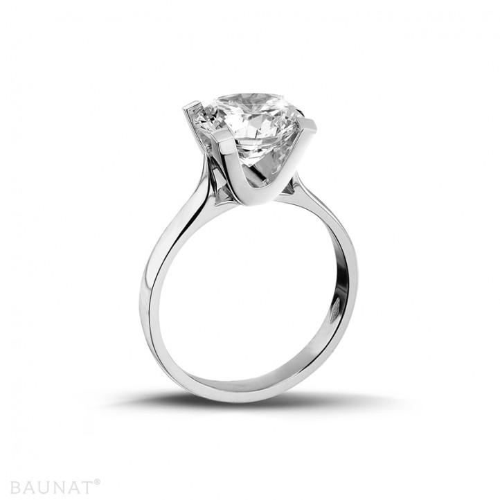 2.00 carats bague diamant solitaire en platine