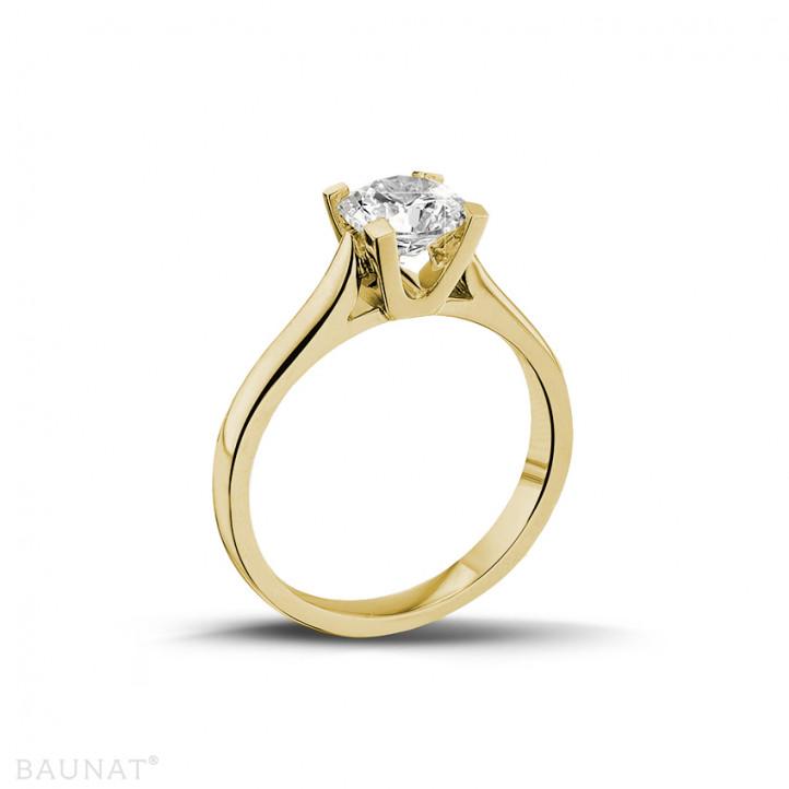 0.90 carats bague diamant solitaire en or jaune