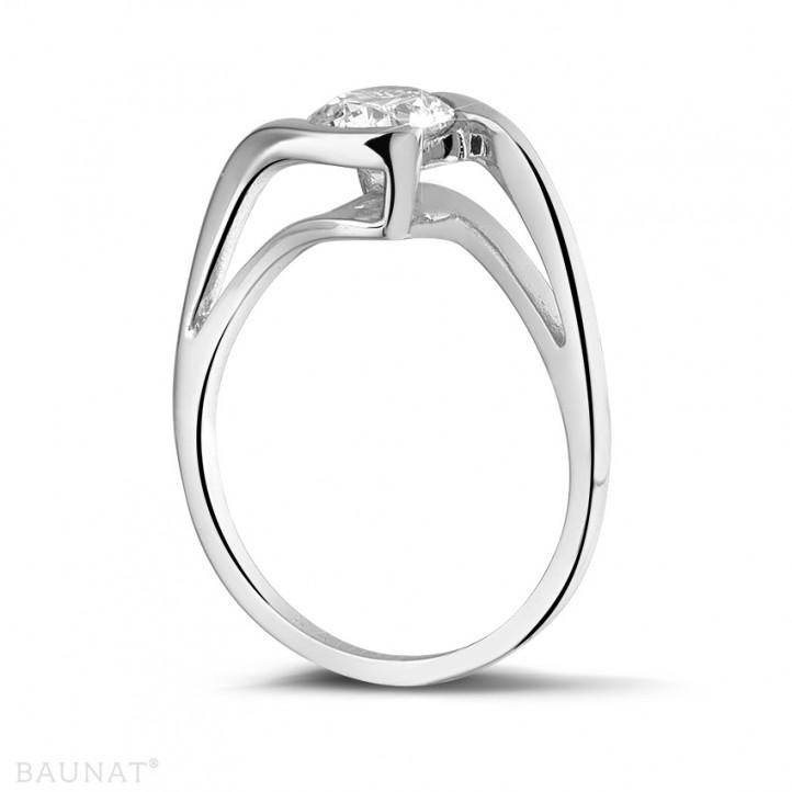 0.70克拉鉑金單鑽戒指
