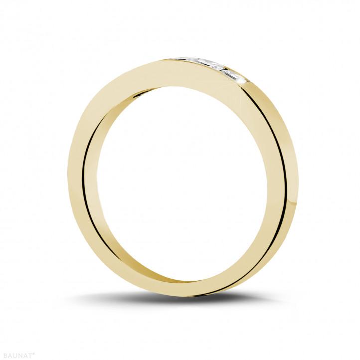 0.50克拉公主方鑽黃金永恆戒指