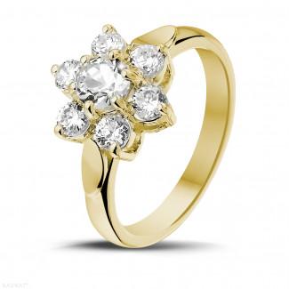 花之戀1.15克拉黃金鑽石戒指