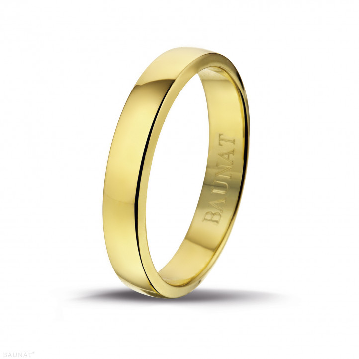 男士黄金戒指 寬度為4.00毫米