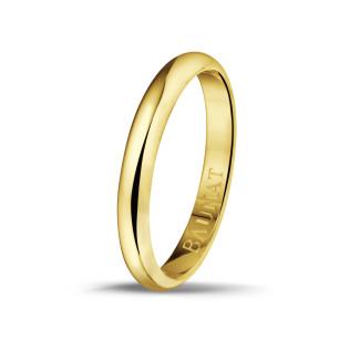 男士黄金戒指 寬度為3.00 毫米