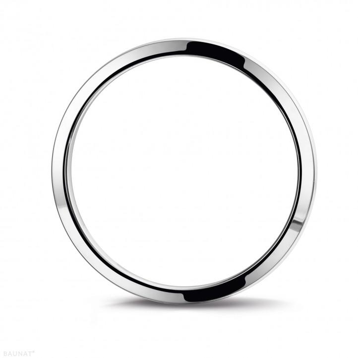 男士白金戒指 寬度為4.00毫米