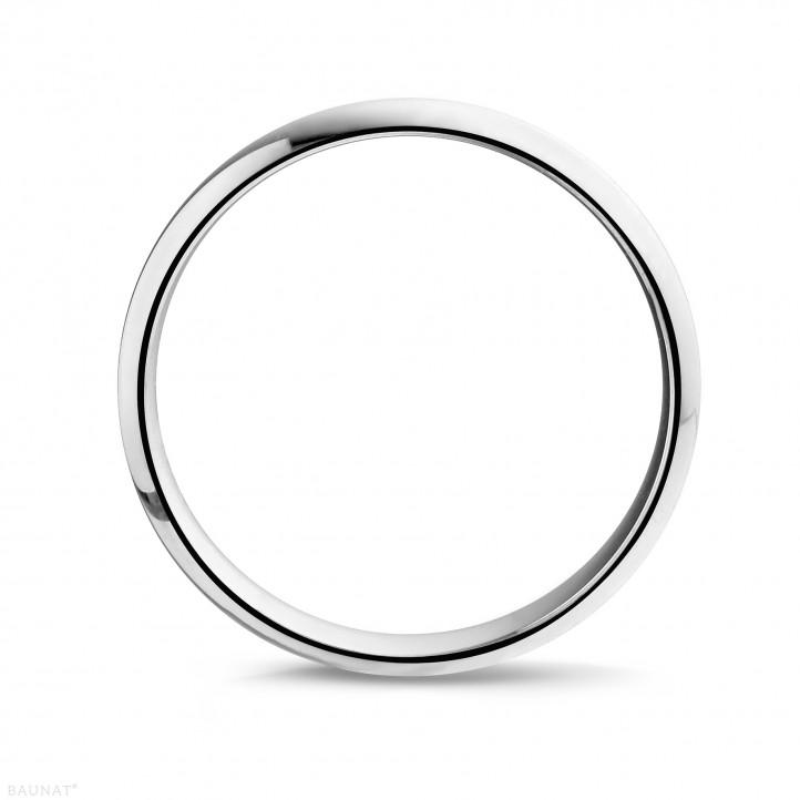 男士白金戒指 寬度為3.00毫米