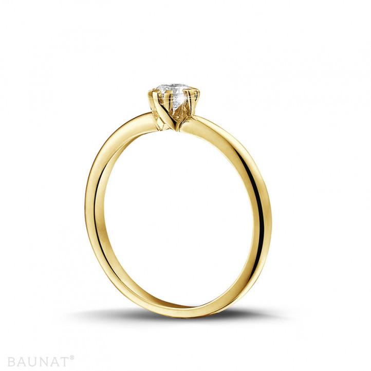 設計系列 0.25 克拉八爪黃金鑽石戒指