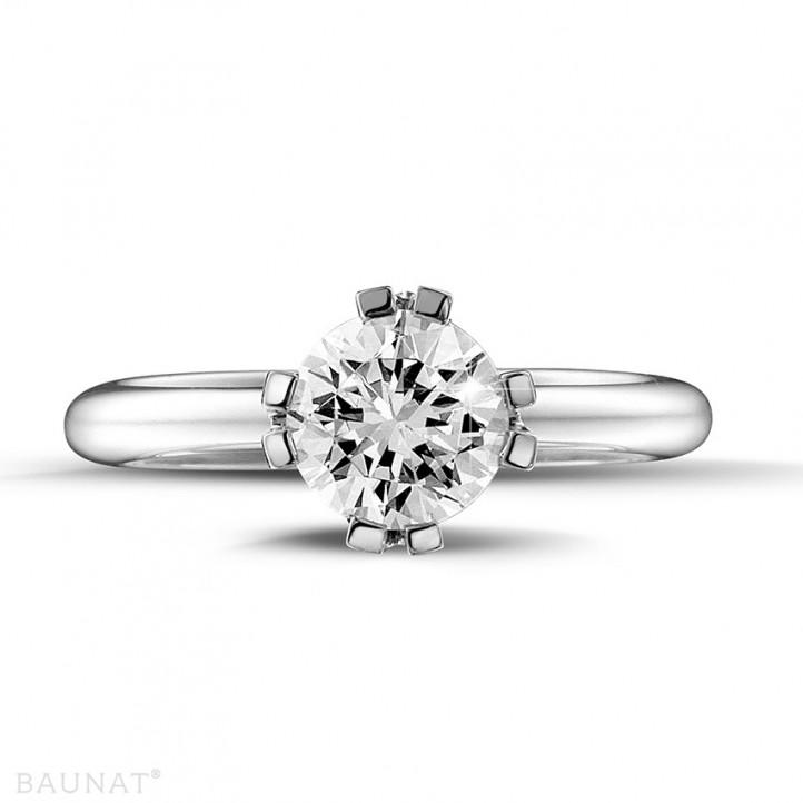 設計系列 1.25 克拉八爪鉑金鑽石戒指