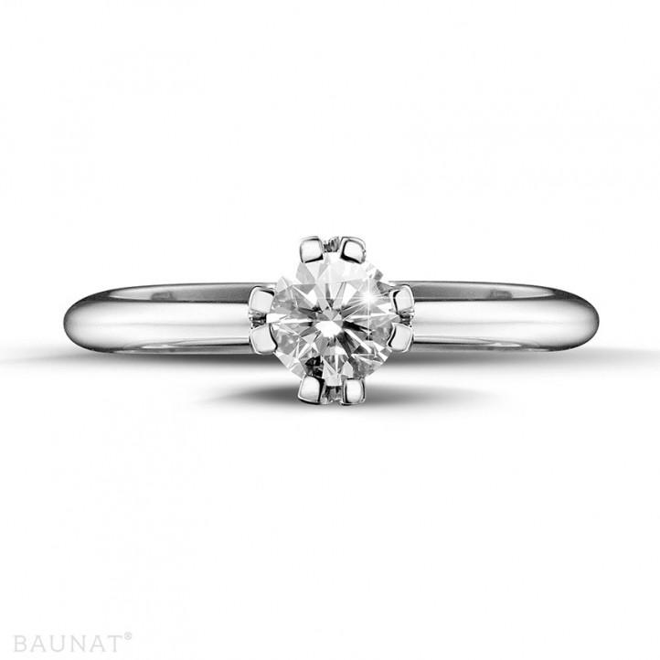 設計系列 0.50 克拉八爪鉑金鑽石戒指