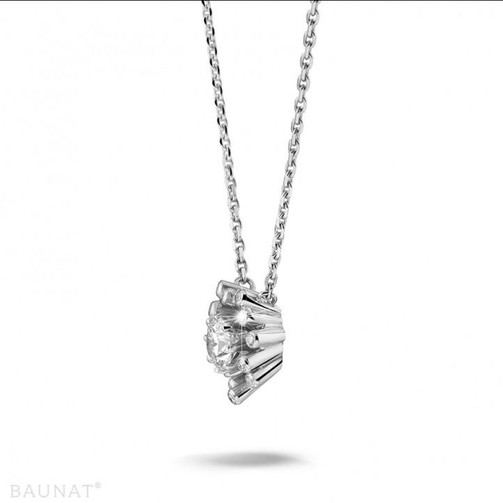 設計系列 0.75克拉白金鑽石吊墜項鍊