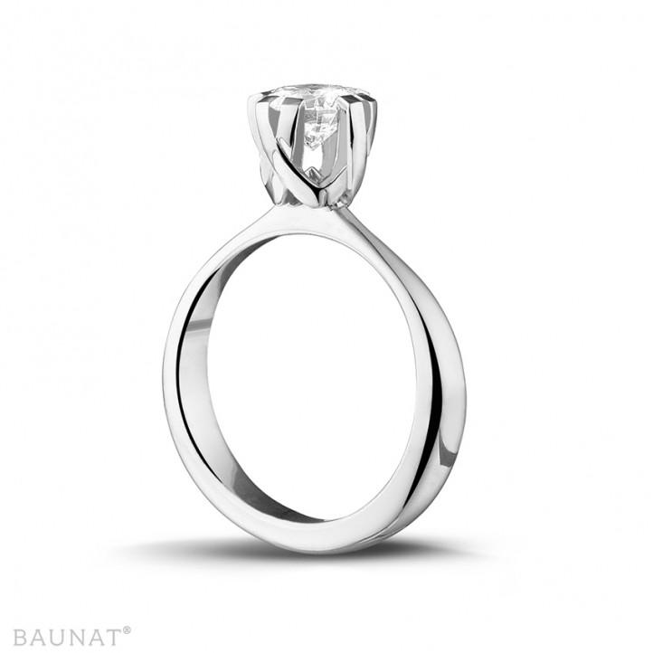 設計系列 1.50 克拉八爪鉑金鑽石戒指