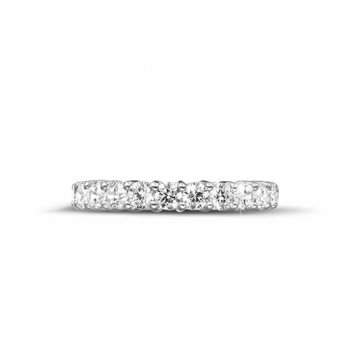 2.30克拉白金鑽石永恆戒指