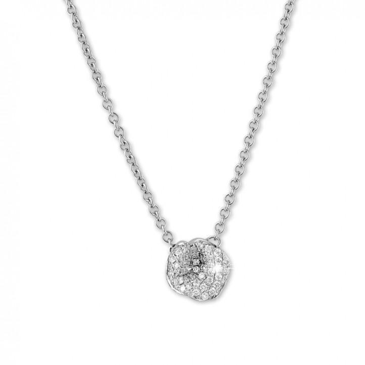 設計系列0.25克拉白金鑽石項鍊