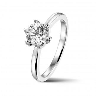 鑽石求婚戒指 - BAUNAT Iconic 系列 1.00克拉白金圓鑽單鑽戒指