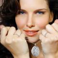 設計系列0.40克拉白金鑽石Medaillon盒式吊墜項鍊