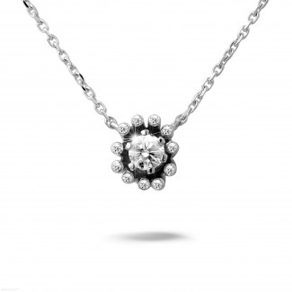 設計系列 0.25克拉白金鑽石吊墜項鍊