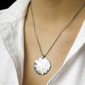 設計系列0.46克拉白金鑽石吊墜