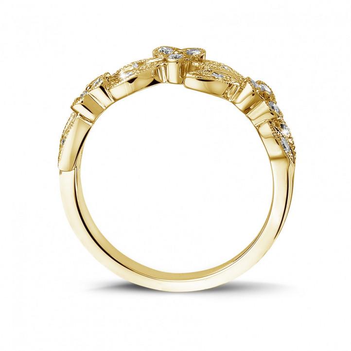 0.32克拉花之戀黃金鑽石戒指