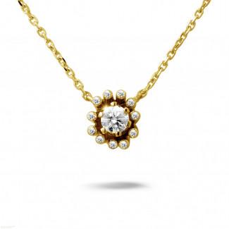 設計系列 0.25克拉黃金鑽石吊墜項鍊