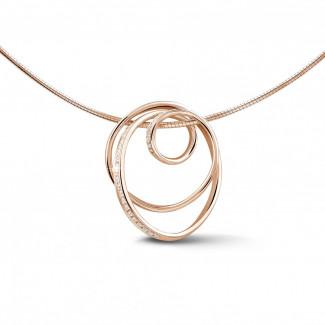 玫瑰金 - 設計系列0.48 克拉玫瑰金鑽石吊墜