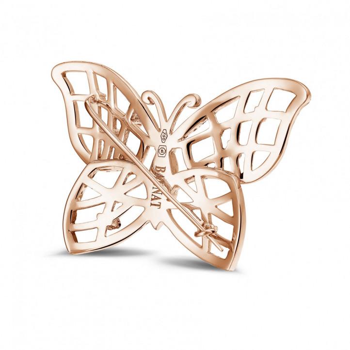 設計系列 0.90克拉碎鑽密鑲玫瑰金胸針
