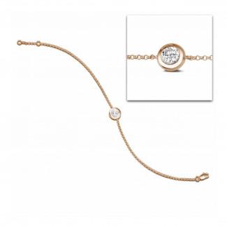 鑽石手鍊 - 0.70克拉玫瑰金鑽石手鍊