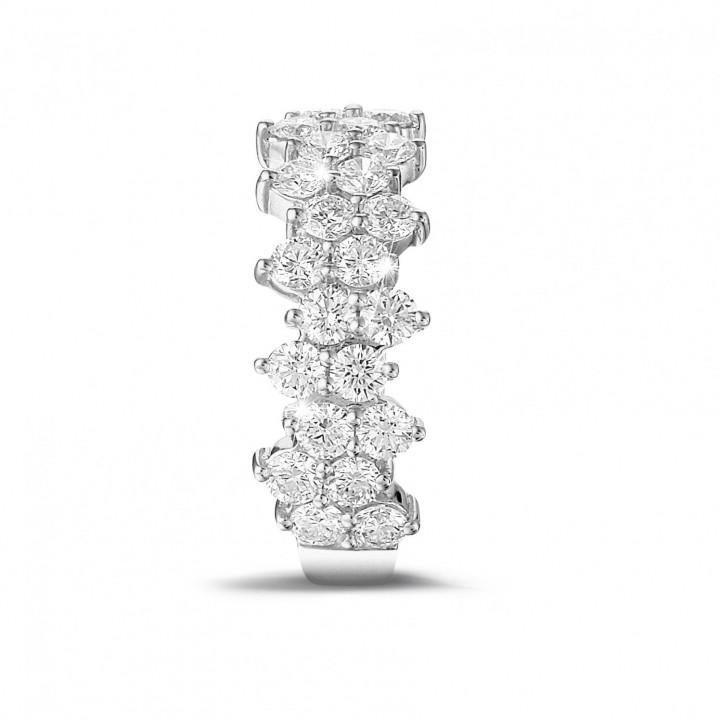 1.20克拉白金密鑲鑽石戒指