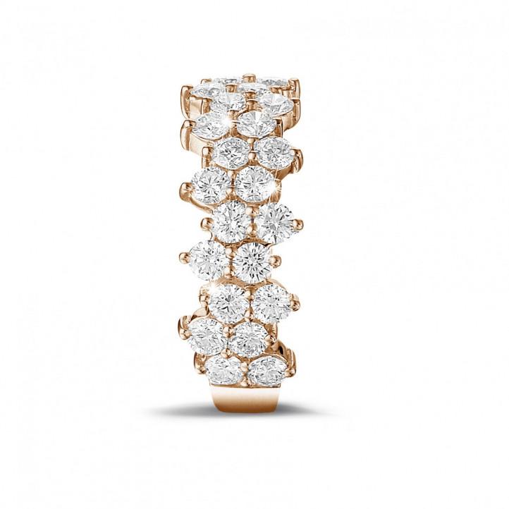 1.20克拉玫瑰金密鑲鑽石戒指