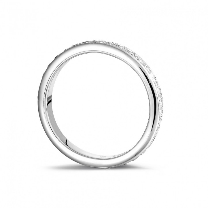 0.55 克拉白金密鑲鑽石戒指