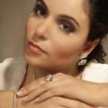 設計系列1.50 克拉玫瑰金密鑲鑽石耳環