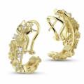 設計系列0.50克拉花之戀黃金鑽石耳環