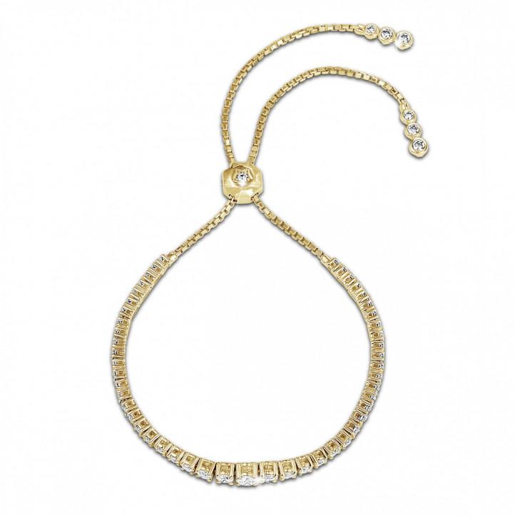 1.50 克拉黃金鑽石漸變手鍊