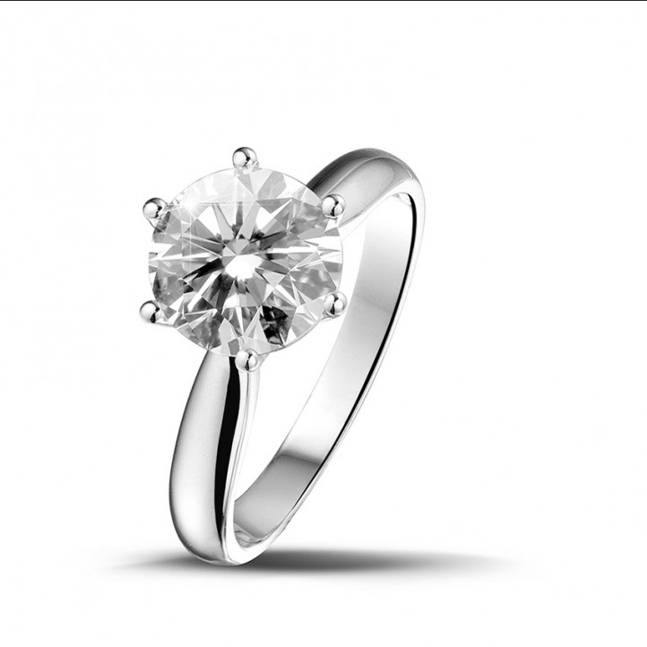 2.00 カラットのホワイトゴールドソリテールダイヤモンドリング