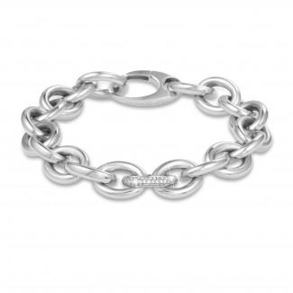 ブレスレット - 0.34カラットのダイヤモンド・チェーン・ブレスレット(ホワイトゴールド
