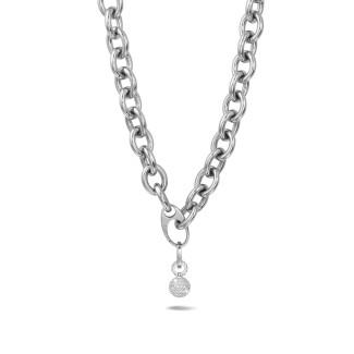 ネックレス - 1.44カラットのダイヤモンドをあしらったホワイトゴールドのチェーンネックレス