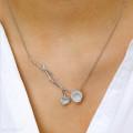 0.73 カラットのホワイトゴールドダイヤモンドデザインネックレス