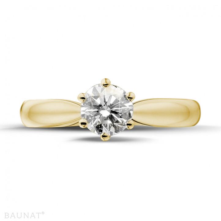 0.75 カラットのイエローゴールドソリテールダイヤモンドリング