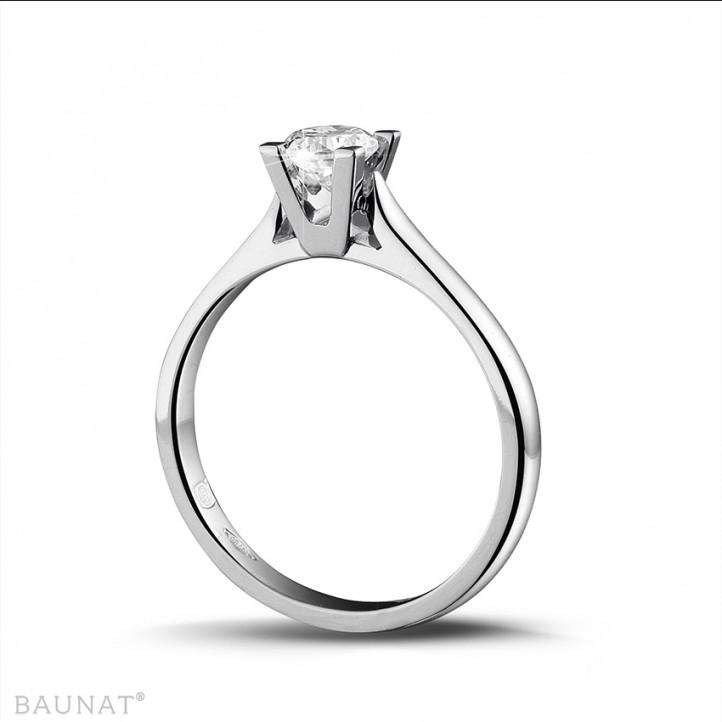 0.30 カラットのプラチナソリテールダイヤモンドリング