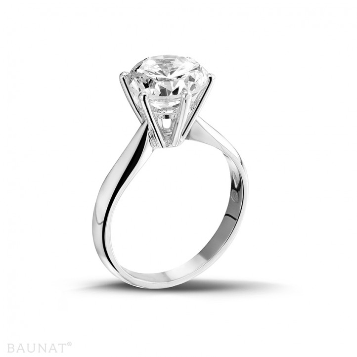 3.00 カラットのプラチナソリテールダイヤモンドリング