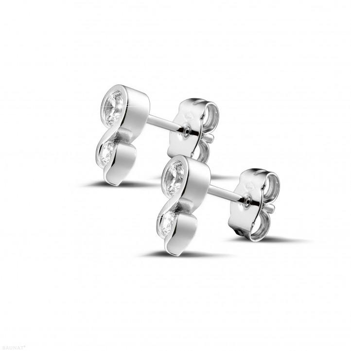 0.44 カラットのホワイトゴールドダイヤモンドイヤリング
