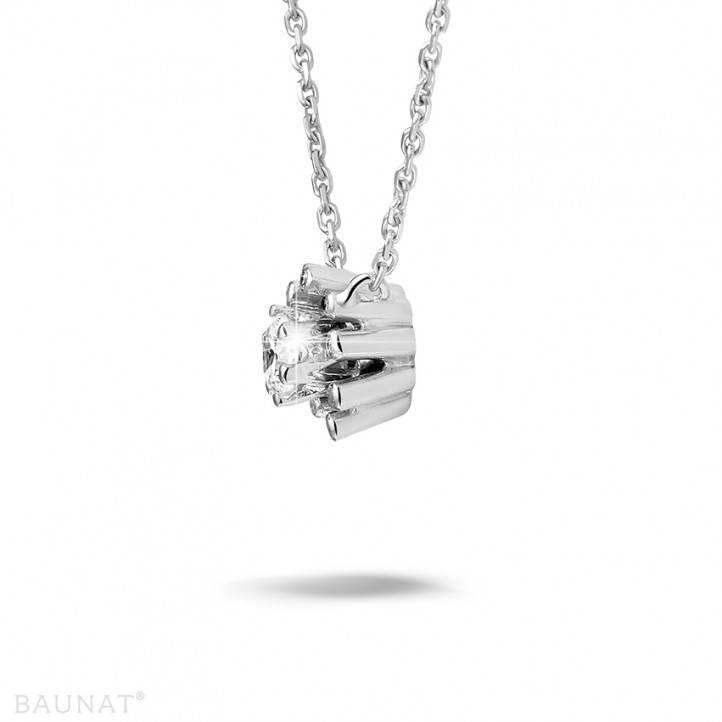 0.25 カラットのホワイトゴールドダイヤモンドデザインペンダント