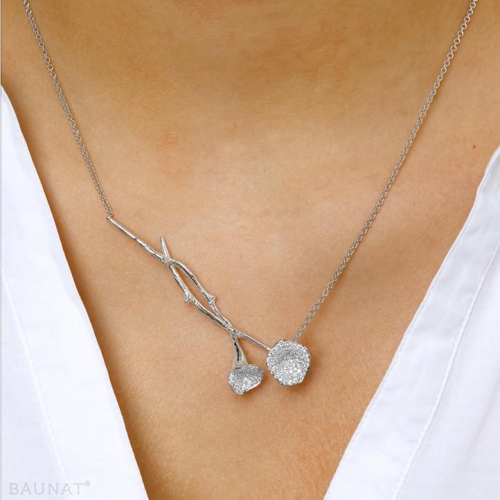 0.73 カラットのプラチダイヤモンドデザインネックレス