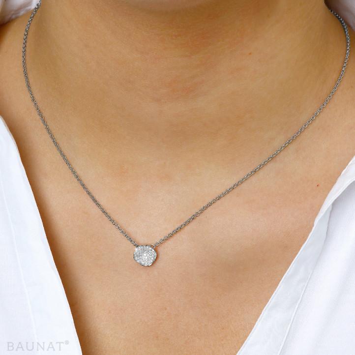 0.25 カラットのプラチダイヤモンドデザインネックレス