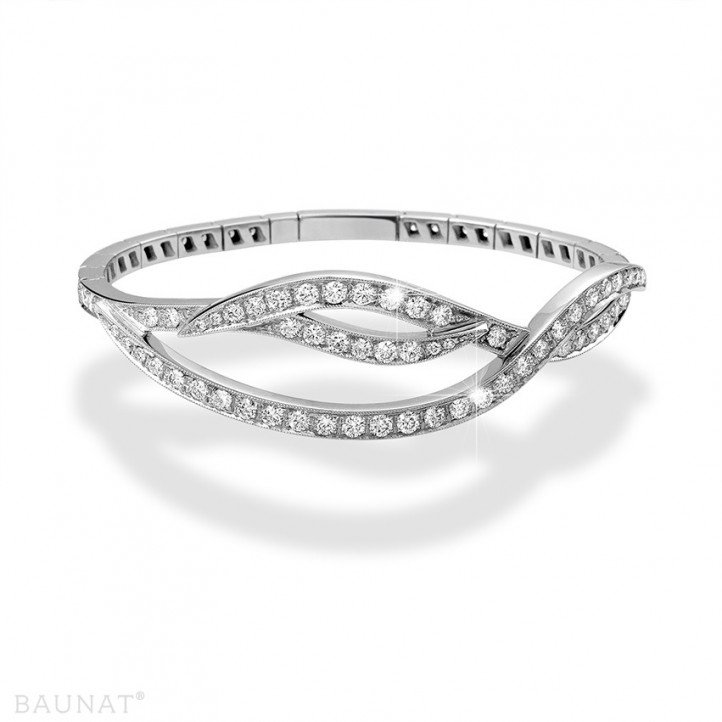 3.32 カラットのプラチダイヤモンドデザインブレスレット