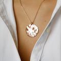 0.46 カラットのピンクゴールドダイヤモンドデザインペンダント