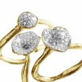 マッチングのイエローゴールドダイヤモンドデザインリング