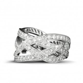 Nathu - 2.50 カラットのホワイトゴールドダイヤモンドデザインリング
