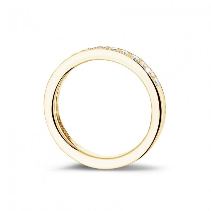 0.25 カラットのイエローゴールドダイヤモンドエタニティリング(ハーフセット)