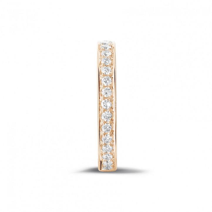 0.25 カラットのピンクゴールドダイヤモンドエタニティリング(ハーフセット)