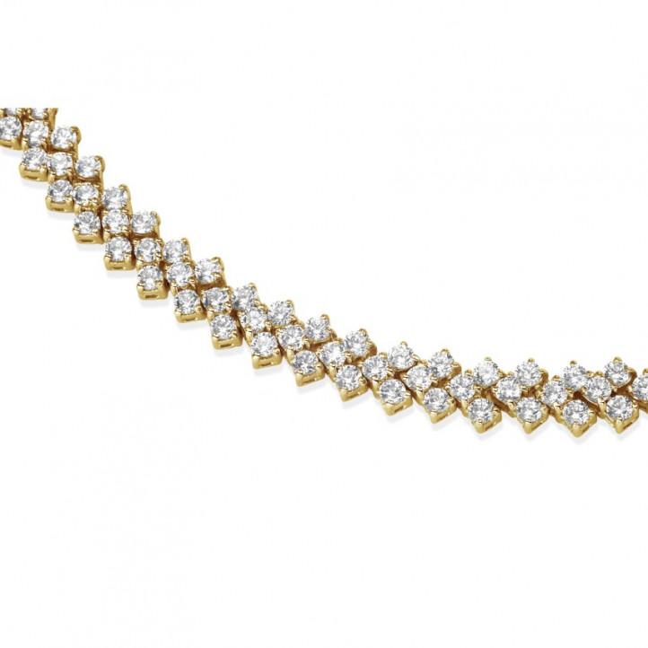 19.50カラットの編み込みピンクゴールドダイヤモンドネックレス
